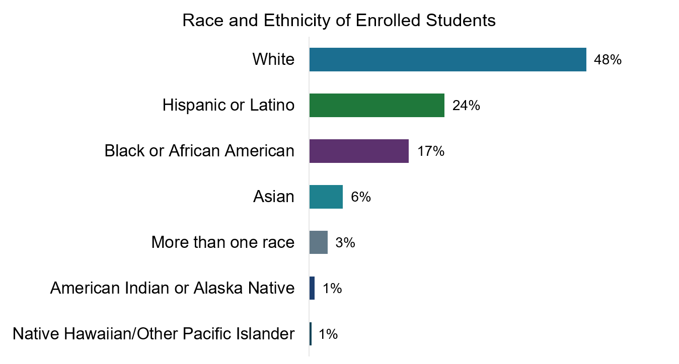Race and Ethnicity of Enrolled Students